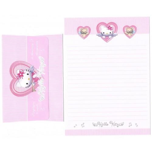 Ano 2001 Conjunto de Papel de Carta Hello Kitty Angel Heart CRS Sanrio