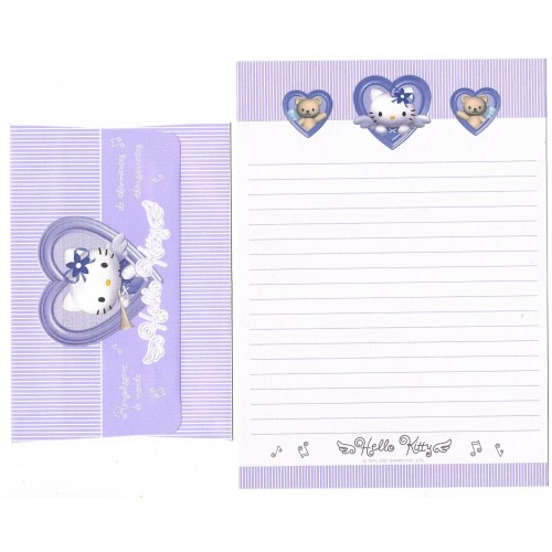 Ano 2001 Conjunto de Papel de Carta Hello Kitty Angel Heart CLL Sanrio