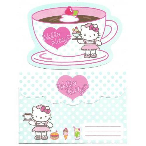 Ano 2002. Conjunto de Papel de Carta Hello Kitty Waitress 2 CVD Sanrio