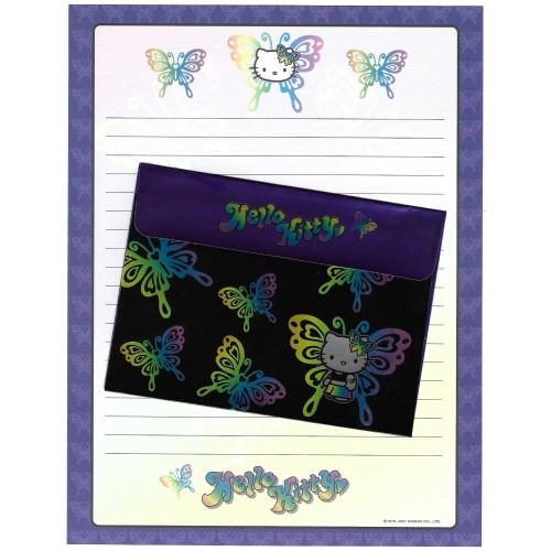 Ano 2001 Conjunto de Papel de Carta Hello Kitty Butterfly Sanrio