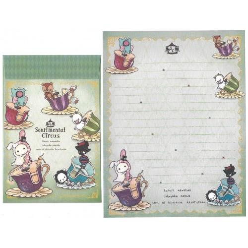 Conjunto de Papel de Carta Importado Sentimental Circus CVD2 San-X Japan