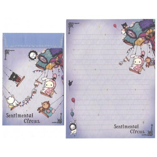 Conjunto de Papel de Carta Importado Sentimental Circus CLL SanX Japan