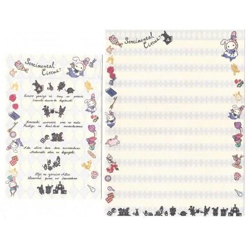 Conjunto de Papel de Carta Importado Sentimental Circus ALICE2 SanX