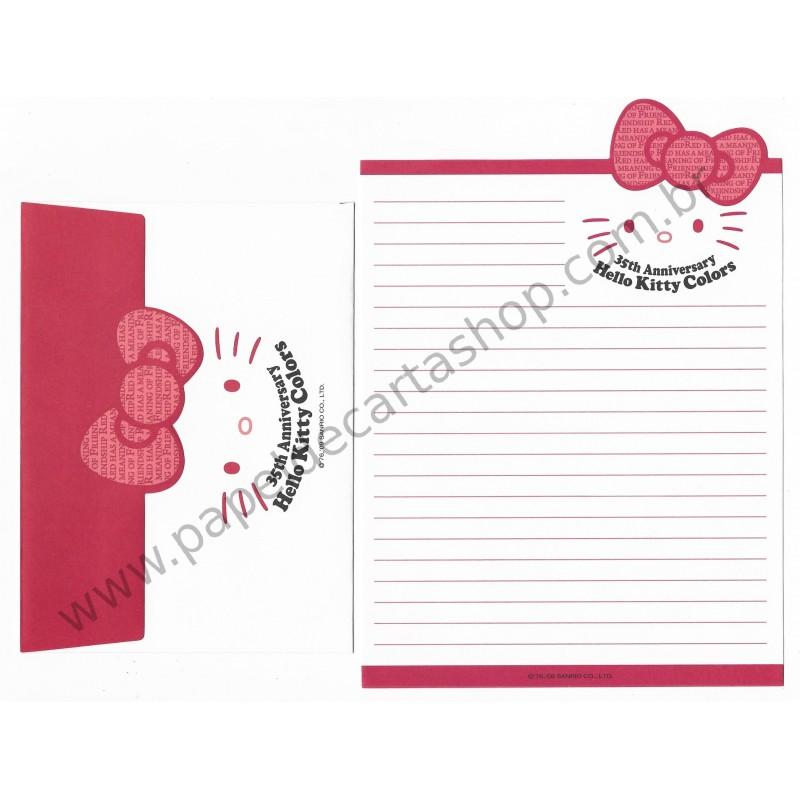 Ano 2009. Kit 5 Conjuntos Hello Kitty Colors 35th Anniversary Sanrio