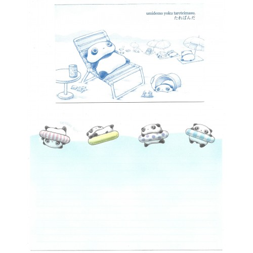 Conjunto de Papel de Carta Importado TAREPANDA DC2 - San-X