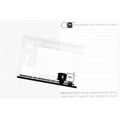 Conjunto de Papel de Carta Monokuro Boo TRA2 SAN-X