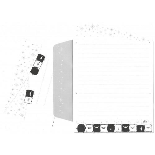 Conjunto de Papel de Carta Monokuro Boo DC2 SAN-X