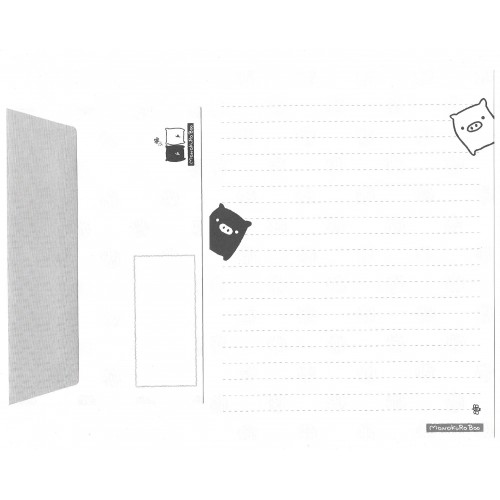 Conjunto de Papel de Carta Monokuro Boo Dots4 SAN-X