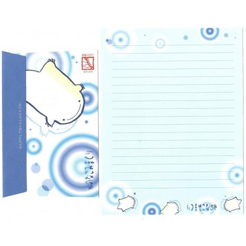 Conjunto de Papel de Carta Importado Blue - San-X