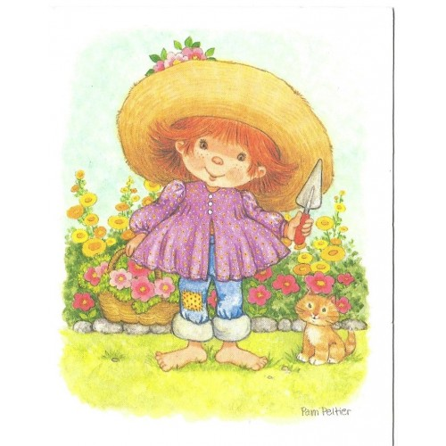 Notecard Antigo Importado SEM ENVELOPE Girl Pam Peltier - Current