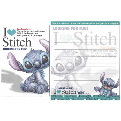 Kit 2 Conjuntos de Papel de Carta Disney I Love Stitch