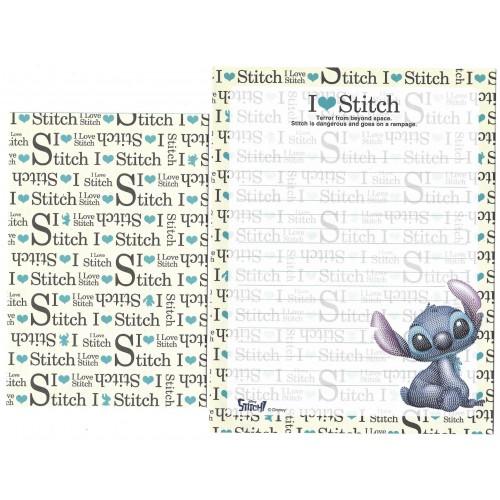 Kit 2 Conjuntos de Papel de Carta Disney I Love Stitch