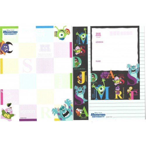 Kit 2 Conjuntos de Papéis de Carta Disney/Pixar Monsters University
