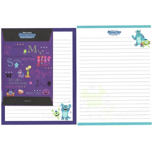 Kit 2 Conjuntos de Papéis de Carta Disney/Pixar Monsters University 2