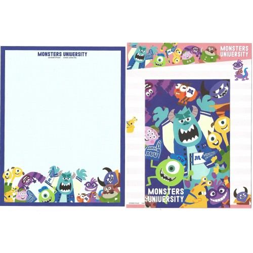 Kit 2 Conjuntos de Papéis de Carta Disney/Pixar Monsters University 3