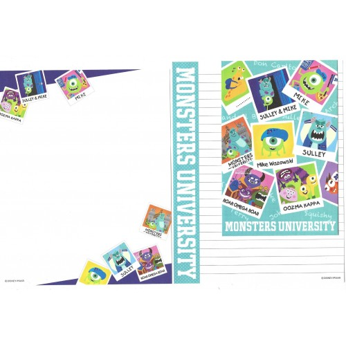 Kit 2 Conjuntos de Papéis de Carta Disney/Pixar Monsters University 4