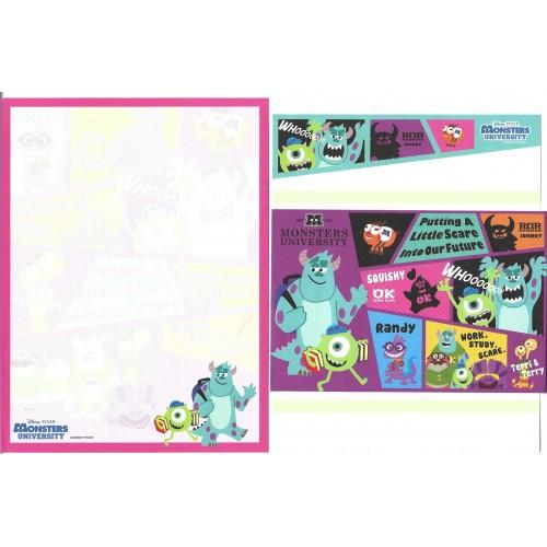 Kit 2 Conjuntos de Papéis de Carta Disney/Pixar Monsters University 6