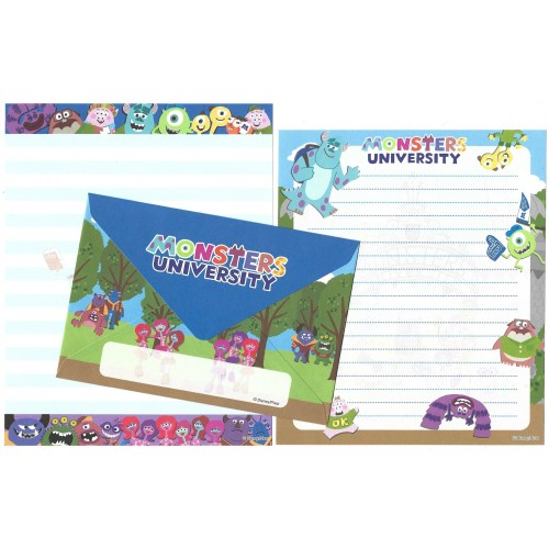 Conjunto de Papel de Carta Disney/Pixar Monsters University WSS