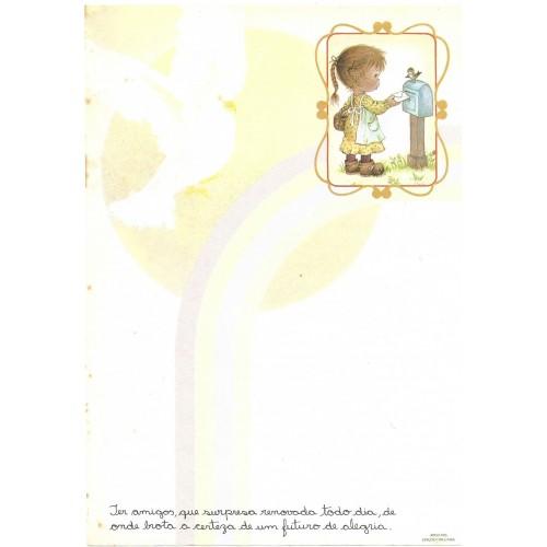 Papel de Carta Arco Iris 07