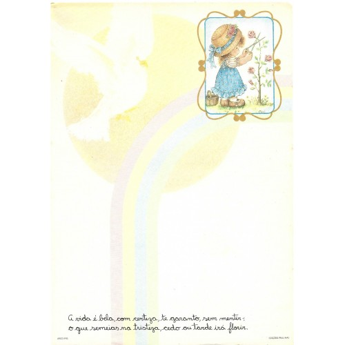 Papel de Carta Arco Iris 08