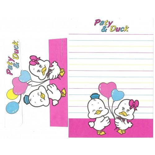 Conjunto de Papel de Carta Antigo Paty & Duck V1