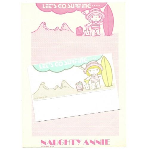 Conjunto de Papel de Carta Antigo Naughty Annie CRS