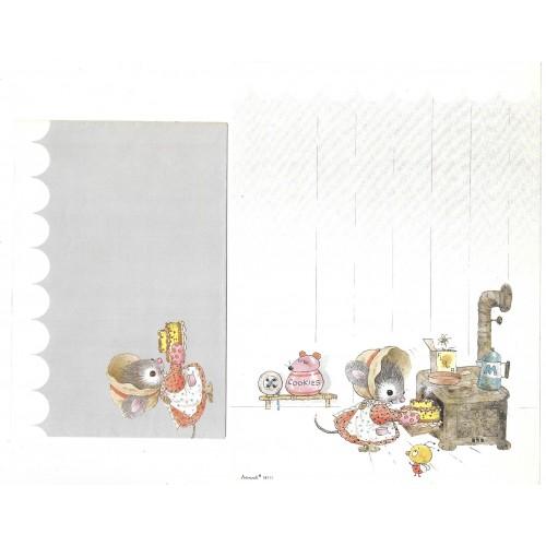 Conjunto de Papel de Carta Antigo Coleção Artesanal - 18111