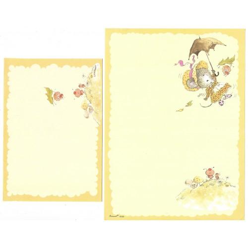 Conjunto de Papel de Carta Antigo Coleção Artesanal - 18109