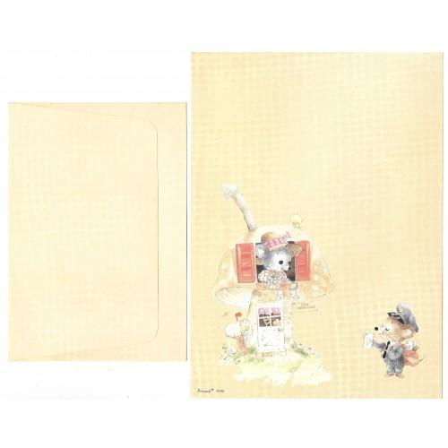 Conjunto de Papel de Carta Antigo Coleção Artesanal - 18108