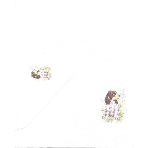 Conjunto de Papel de Carta Antigo Coleção Kartos - Cachorro 4