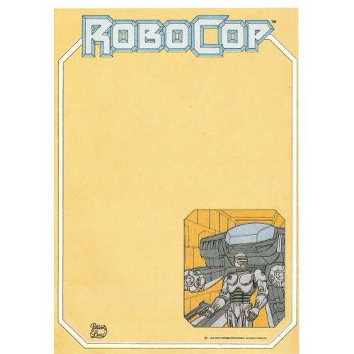 Papel de Carta AVULSO Coleção Palacio's Line ROBOCOP II