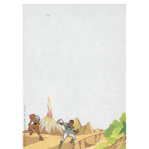 Ano 1986. Papel de Carta Antigo THUNDERCATS TCW4