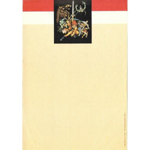 Ano 1986. Papel de Carta Antigo THUNDERCATS TCW3