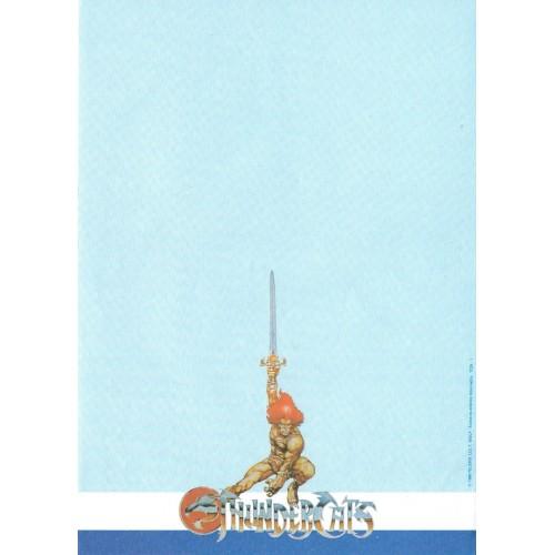Ano 1986. Papel de Carta Antigo THUNDERCATS TCW1
