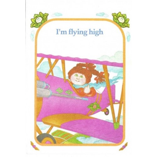 """Ano 1983. Notecard Importado Cabbage Patch Kids I""""m Flying High"""