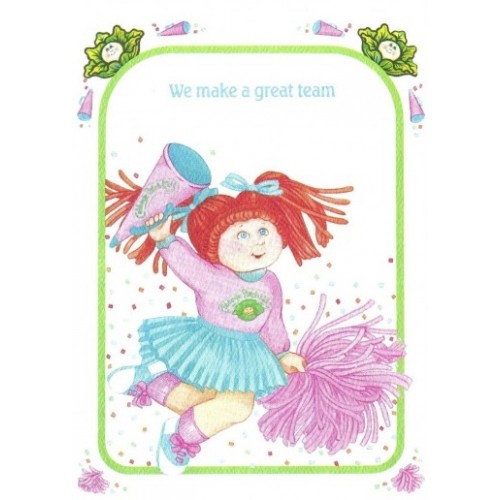 Ano 1983. Notecard Importado Cabbage Patch Kids A Great Team