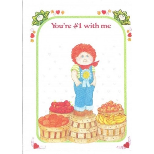 Ano 1983. Notecard Importado Cabbage Patch Kids No1 With Me