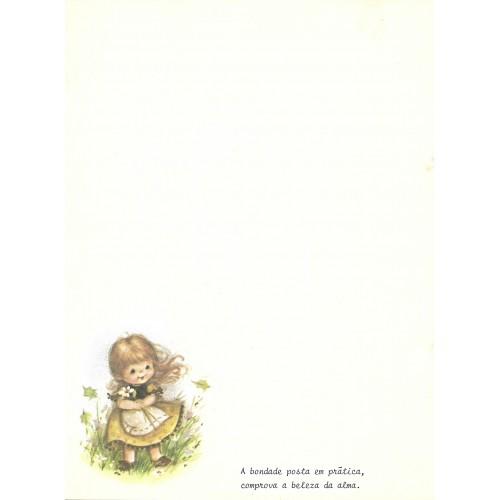 Papel de Carta Antigo Menininhas 15 COM FRASE