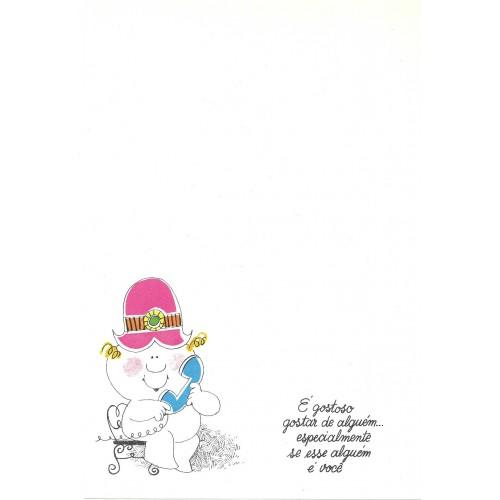 Coleção Paula AB08. Papel de Carta Avulso