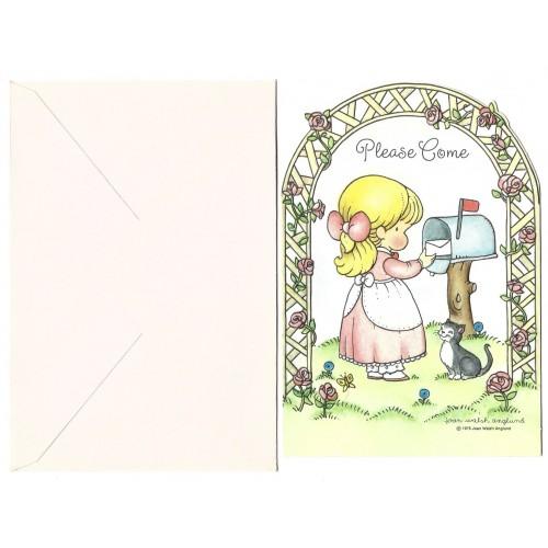 Ano 1975. Notecard Antigo Importado Joan Walsh Anglund - Hallmark