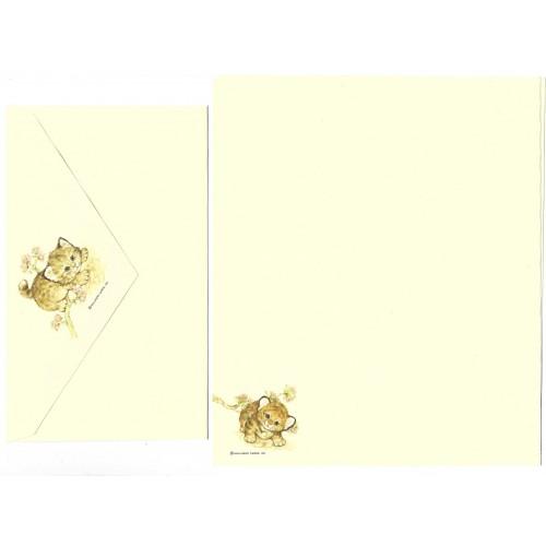 Conjunto de Papel de Carta Antigo Importado Tiger Hallmark