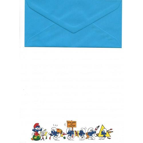 Conjunto de Papel de Carta Antigo Importado Os Smurfs Tumpf