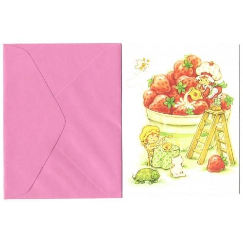 Cartão ANTIGO com Envelope Moranguinho CANDY Carlton