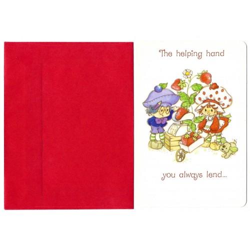Cartão ANTIGO com Envelope Moranguinho AG