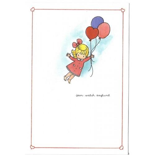 Ano 1989. Notecard Balloons Joan Walsh Anglund Hmk