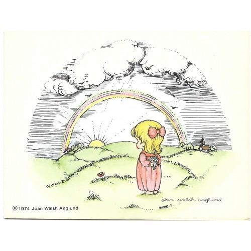 Ano 1974. Notelette Antigo Importado Joan Walsh Anglund - Hallmark
