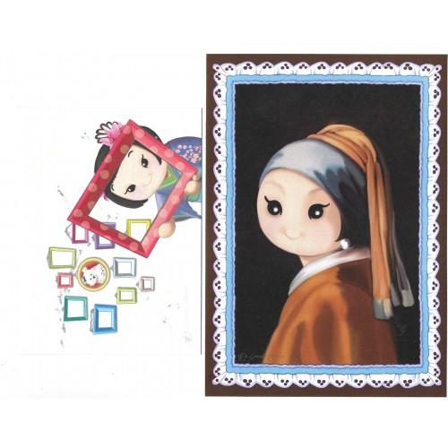 Ano 2019 Ma Tuzi Conjunto de Papel de Carta Coleção Grandes Pinturas 2