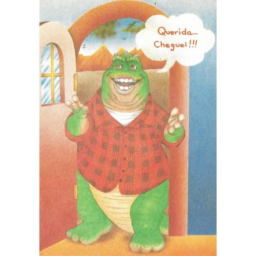 Papel de Carta ANTIGO Família Dinossauro 12
