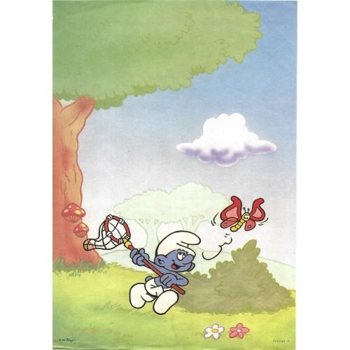Ano 1987. Papel de Carta Avulso Antigo Os Smurfs PC0510-0
