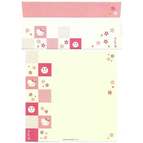 Ano 2002. Conjunto de Papel de Carta Hello Kitty Regional Sanrio